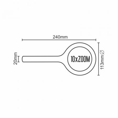 Lupa 10xZOOM s LED svetlom - LM103